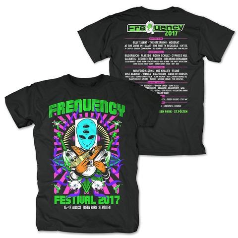 Alien Collage von Frequency Festival - T-Shirt jetzt im My Festival Shop Shop