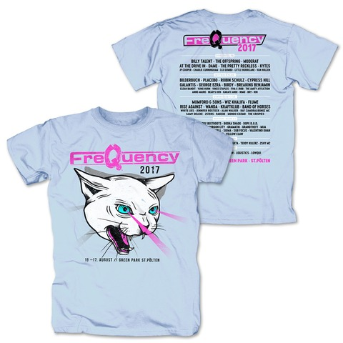 Laser Cat von Frequency Festival - T-Shirt jetzt im My Festival Shop Shop