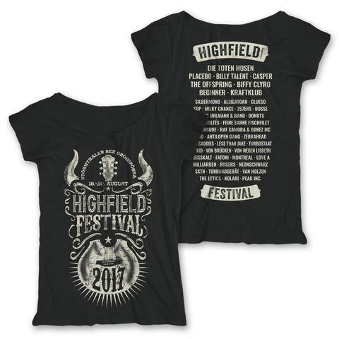 Horny Guitar von Highfield Festival - Girlie Shirt jetzt im My Festival Shop Shop